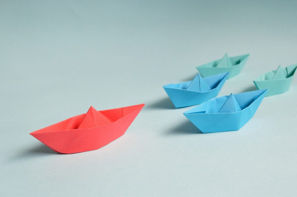 Emotional Intelligence skills matters in leadership - a paper ship leading other paper ships