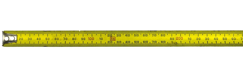 Measuring effectiveness of communication skills- measuring tape