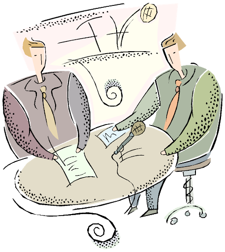Verbal communication skills - two people talking